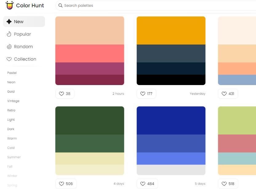Color Hunt te hace la vida más fácil `¡y en colores!