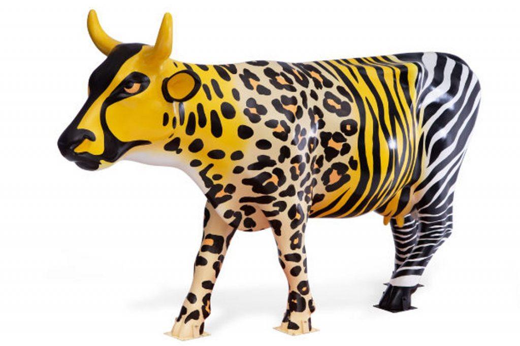 La vaca leopardo de Jamie Drake. Foto: Gustavo Campos/CowParade.