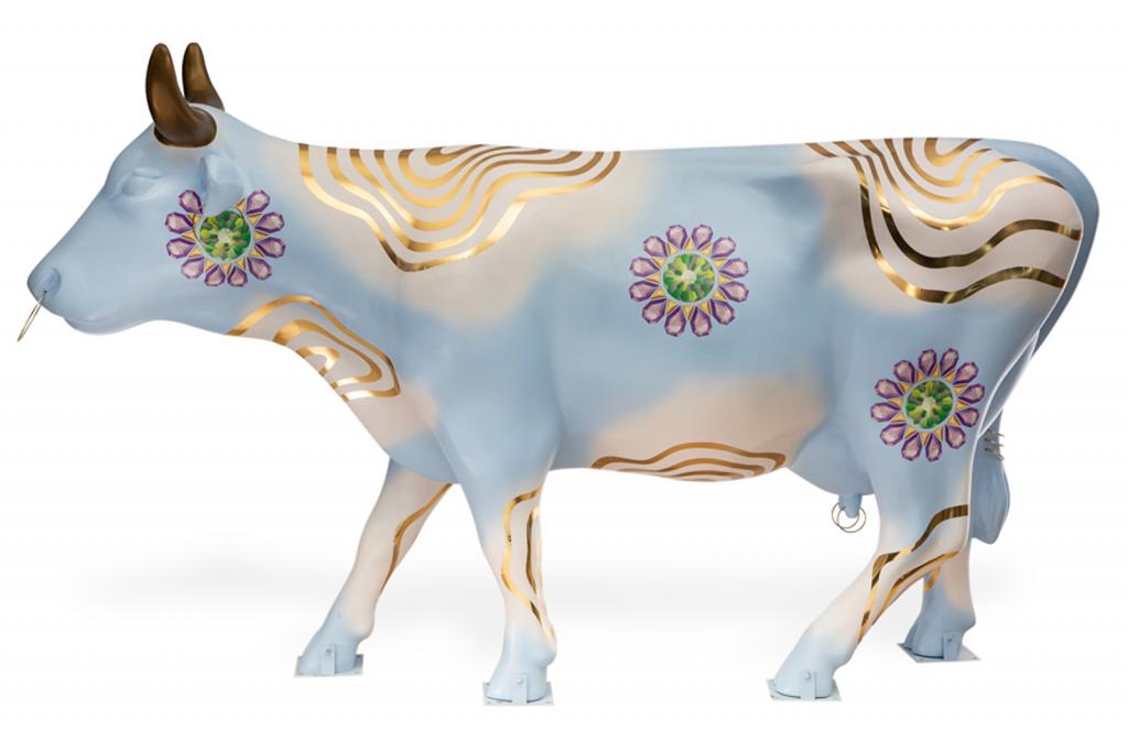 La vaca de Cynthia Erivo. Foto: Gustavo Campos/CowParade.