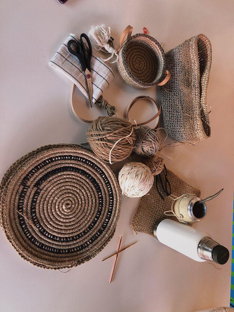 Materias primas de Farfalla, el emprendimiento artesanal de Inés Carena.