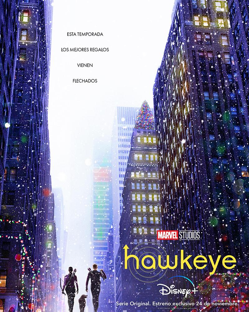 El póster de la serie Hawkeye sobre Ojo de Halcón.
