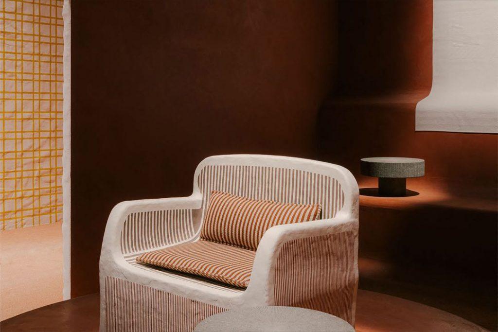 El sillón Sillage de Hermès, estrella de la colecci´ón para el hogar de la maison.