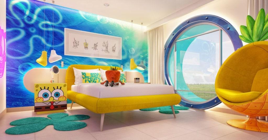 La suite de Bob Esponja en el hotel de Nickelodeon.