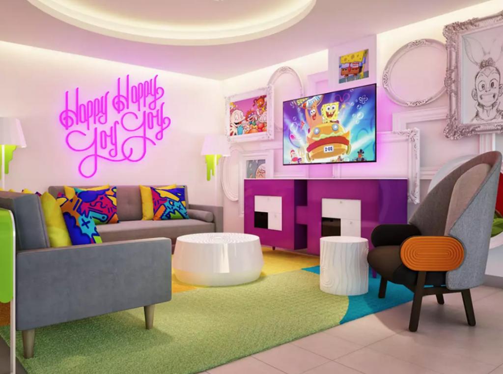El hotel temático del universo de Bob Esponja y los personajes de Nickelodeon.