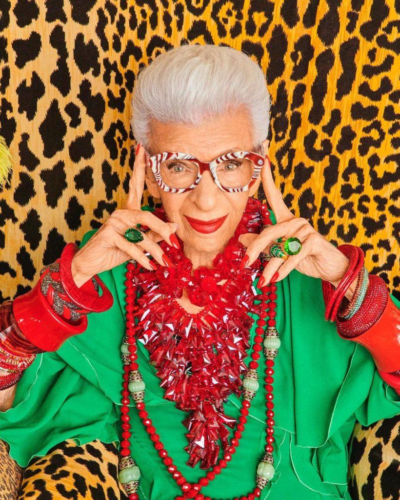 Iris Apfel anticipó que su colección de H&M será de lujo pero accesorible.