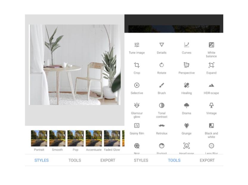 Snapseed optimiza las fotos tomadas con el celular.