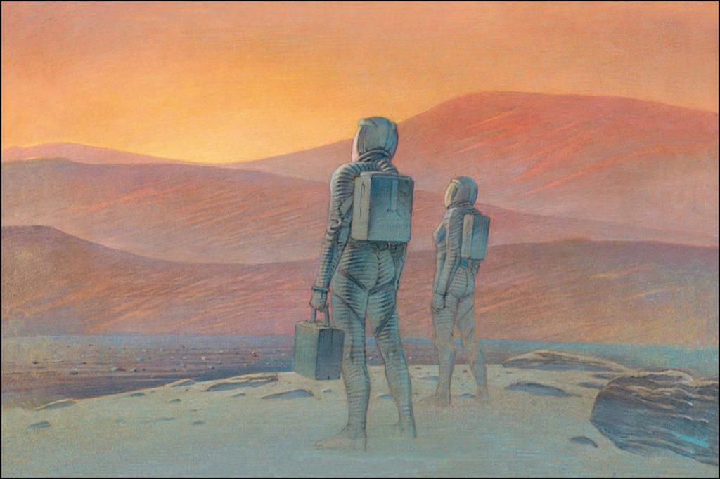 Louis Vuitton presentó su Travel Book a Marte.