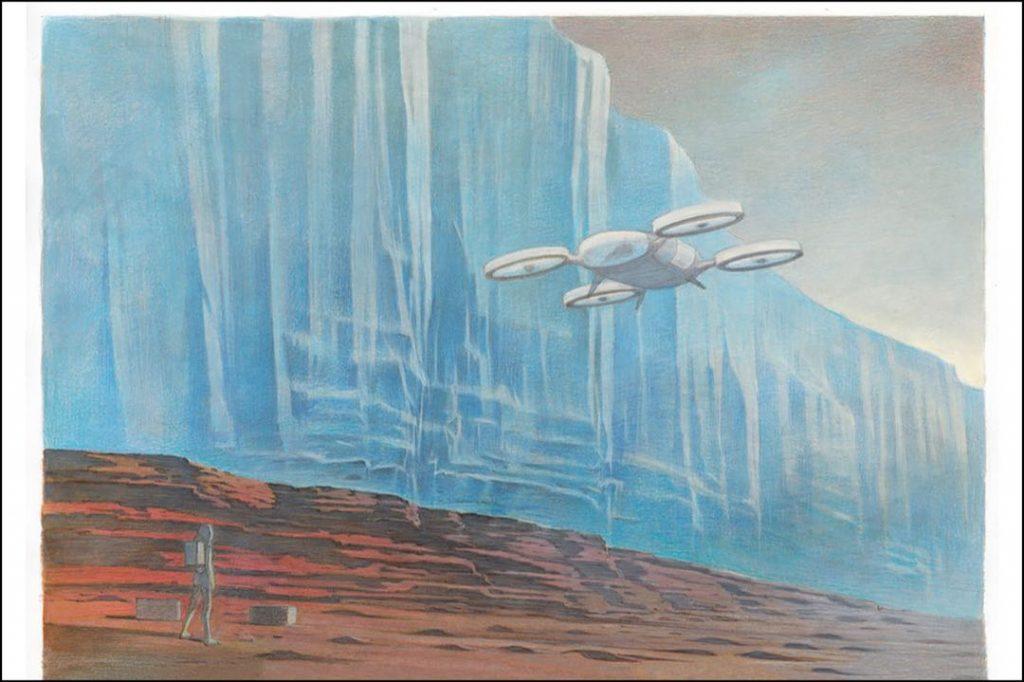 No es Star Wars... Es el libro de viajes de Louis Vuitton que hizo volar su imaginación hasta Marte.