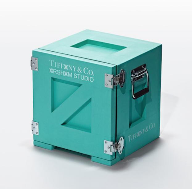 La caja Tiffany intervenida por el artista Daniel Ashram.