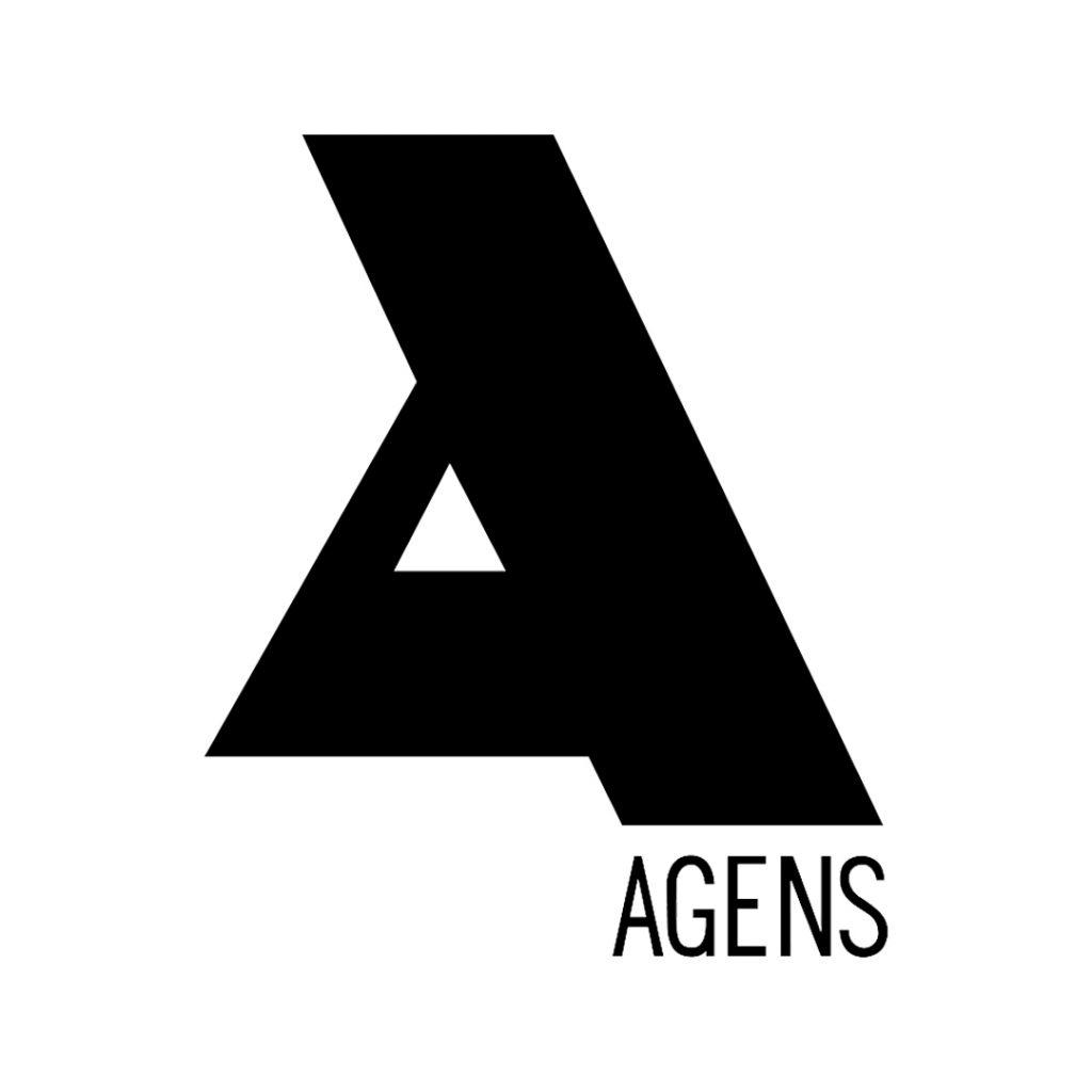 El logo de la icónica agencia Agens creado por Alberto Potenza. Imagen: gentileza Fundación IDA.