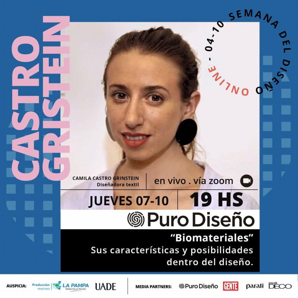 """La charla de Puro Diseño: """"Biomateriales"""" de Camila Castro Grinstein"""