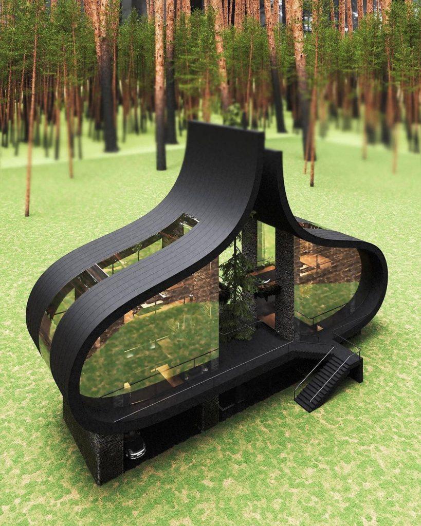 Arquitectura minimalista y en sintonía con el entorno natural.