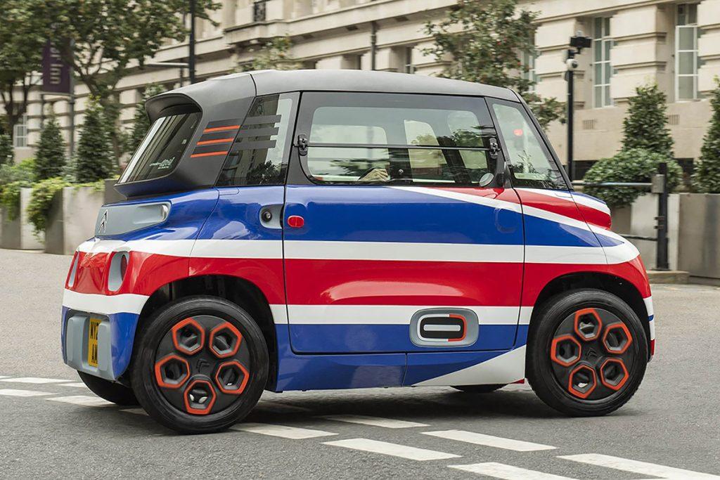 El coche eléctrico AMI de Citroën llegará a las calles de Inglaterra en 2022.