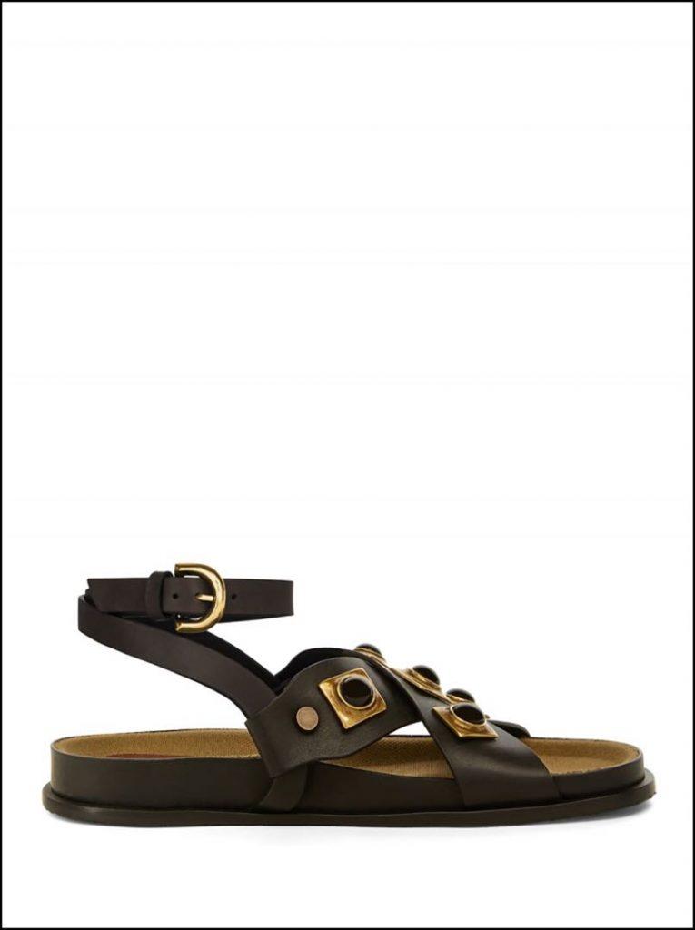 Moderna y sofisticada, una sandalia Etro 2021.